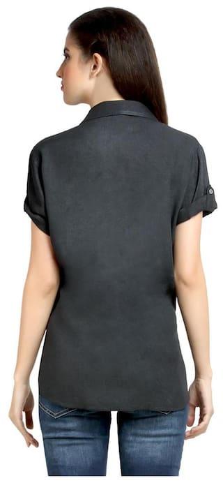 Rayon Top Shirt Charcoal Cabeza En Short Sleeve CZWT0065 Womens Loco TwWfqPxFYF