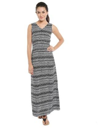 Loco En Cabeza Printed Sleeveless Dress Czwd0093