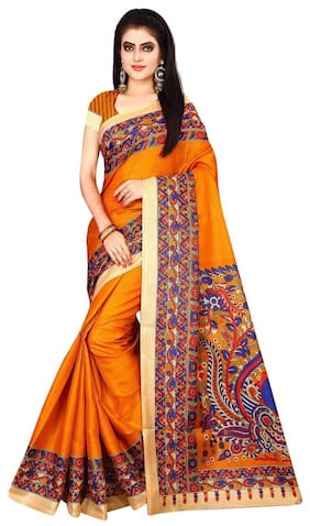 e3a8f5e9c54aad London Beauty Cotton Banarasi Embroidered work Saree - Red , With blouse