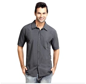 London Bee Men Regular Fit Casual shirt - Grey
