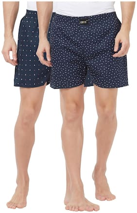 London Bee Cotton Printed boxer Blue