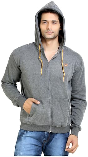 London Bee Grey Cotton Hood
