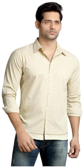 London Bee Men's Cotton L Print Long Sleeve Slim Fit Shirt MLSLB0102