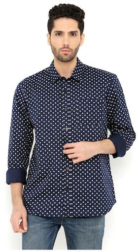 London Bee Men Regular Fit Casual shirt - Blue