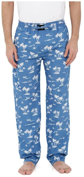 London Bee Men's Cotton Poplin Printed Pyjama/ Lounge Pant MPLB0108