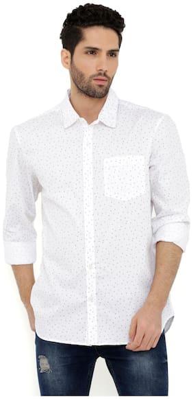 London Bee Men Regular fit Casual shirt - White