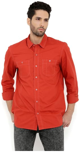 London Bee Men's Solid Cotton Long Sleeve Regular Fit Shirt MLSLB0117