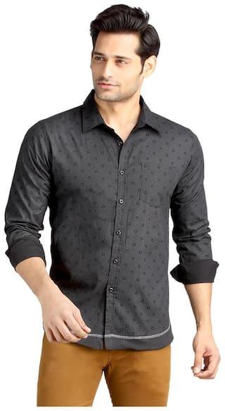 London Bee Men Slim Fit Casual shirt - Black