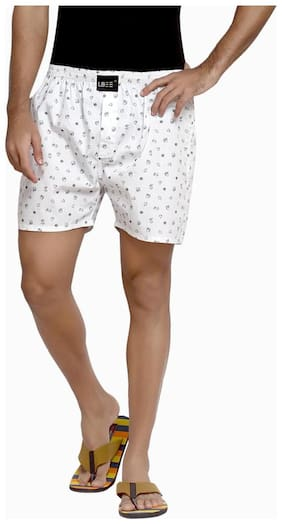 London Bee Men Cotton Boxer (Pack of 1 )  White