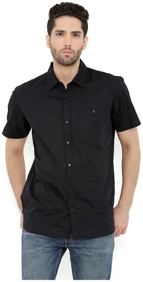 London Bee Men's Cotton Solid Short Sleeve Regular Fit Shirt MSSLB0101
