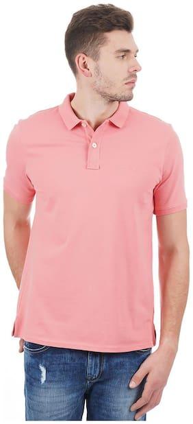 London Fog Men Pink Regular fit Cotton Polo neck T-Shirt - Pack Of 1