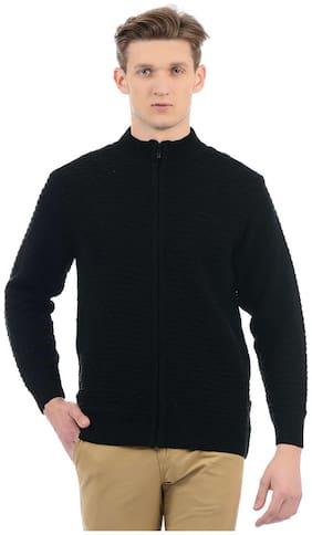 London Fog Men Solid Black Sweaters