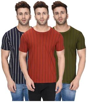 London Hills Men Regular fit Round neck Printed T-Shirt - Multi