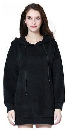 London Rag Women Solid Hoodie - Black