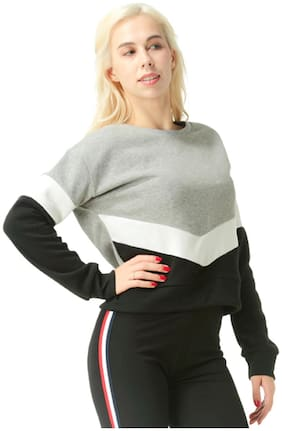 London Rag Women Solid Sweatshirt - Grey
