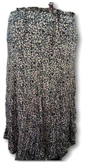 CHAUHAN Printed Assymetric Skirt Midi Skirt - Multi