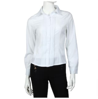 Long Sleeve Pleated Button Up Shirt