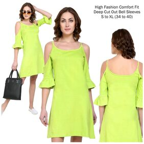 Look Trendy Cut- Out With Detailing Neon Green