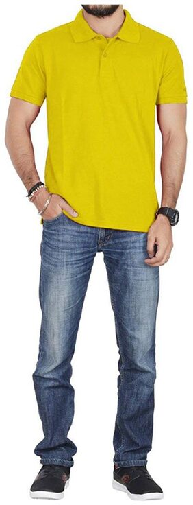 Lotto Men Polo Neck Sports T-Shirt - Yellow