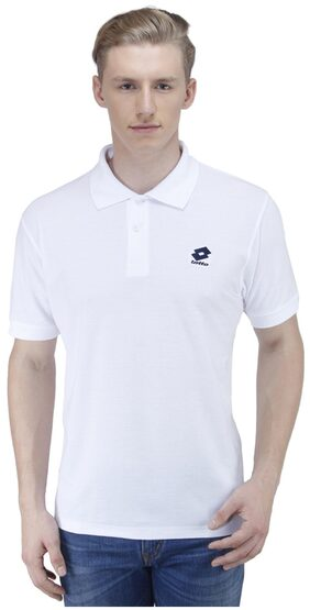 Lotto White Polyester T-Shirt S