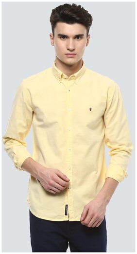 Louis Philippe Men Slim Fit Casual shirt - Yellow
