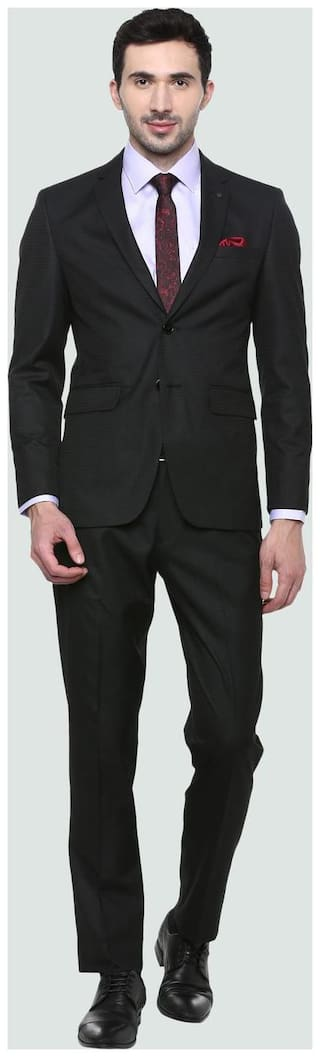 Louis Philippe Black Two Piece Suit