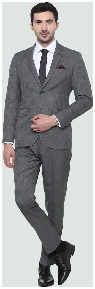 Louis Philippe Grey Two Piece Suit
