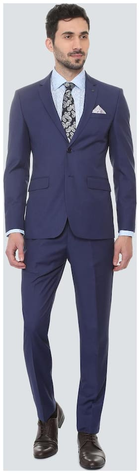 Louis Philippe Men Blended Slim fit Suit - Blue