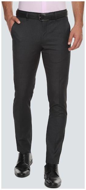 Louis Philippe Men Slim fit ( Super slim fit ) Formal Trouser - Black