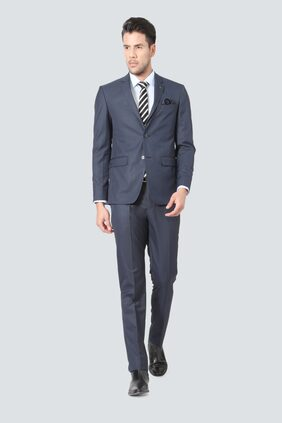 Louis Philippe Men Blended Super slim fit Suit - Blue