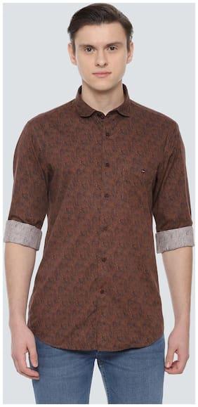 Men Super Slim Fit Floral Casual Shirt