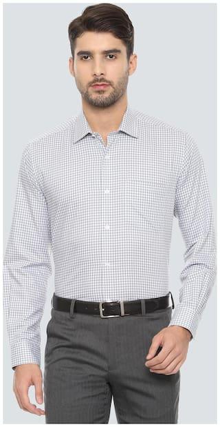 Louis Philippe Men Slim fit Formal Shirt - Grey