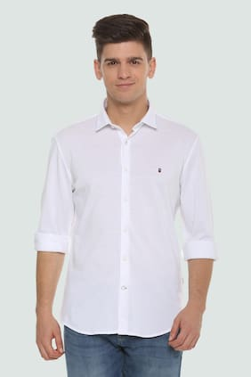 295ace6d243 Louis Philippe Men Slim Fit Casual shirt - White