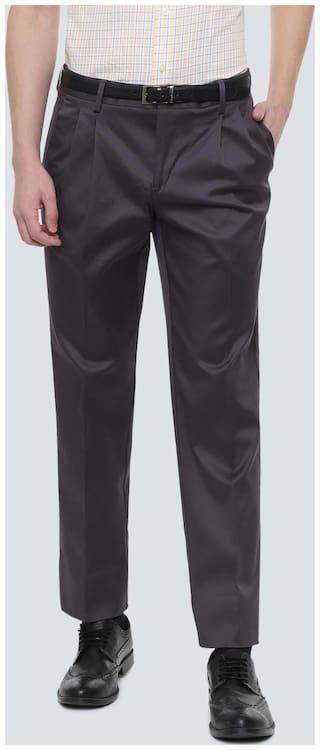 Louis Philippe Men Regular fit ( Regular fit ) Formal Trouser - Grey