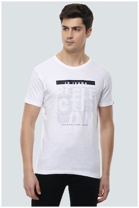 Men Round Neck Graphic Print T-Shirt Pack Of 1