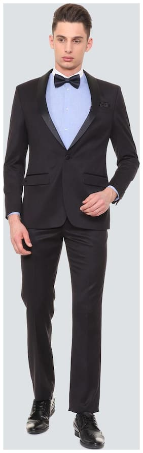 Louis Philippe Men Blended Regular fit Suit - Blue