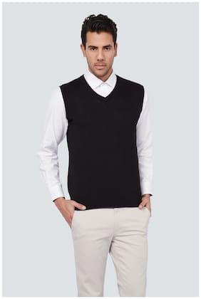 Men Blended Sleeveless Sweater