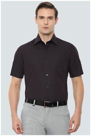 Louis Philippe Men Regular fit Formal Shirt - Black