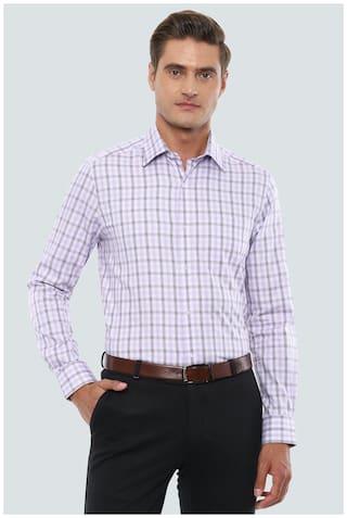 Louis Philippe Men Regular fit Formal Shirt - Purple