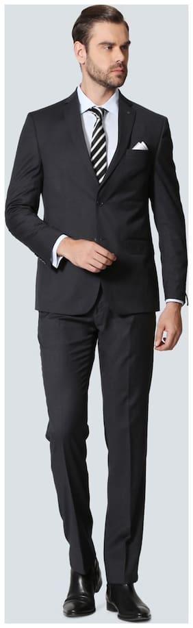 Louis Philippe Men Blended Super slim fit Suit - Grey