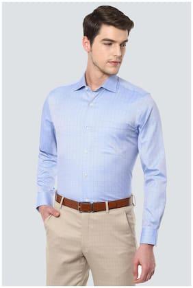 Men Regular Fit Textured Formal Shirt