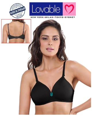 b8413d697e4c8 Buy Lovable Lightly Padded Smooth++ Black Bra Online at Low Prices ...