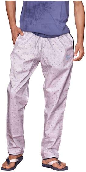 LOWERS CLUB Men Cotton Printed Pyjama - Pink