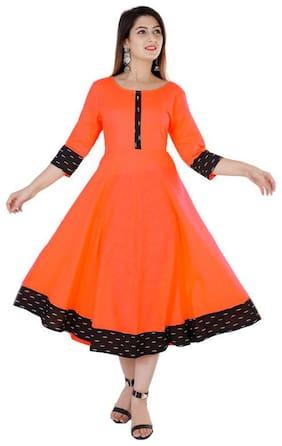 Women Solid Anarkali Kurta Dress