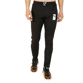 LS SPORTS Men Black Solid Slim fit Track pants