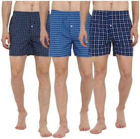 Lucky Roger Men Cotton Boxer (Pack of 3 )  Assorted