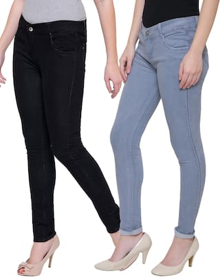 Mid Women Lufaa;Black;Grey Denim Jeans Waist gHqqEn7