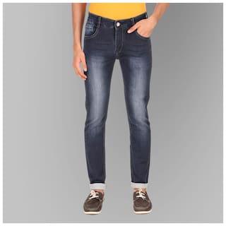 Luies Men Navy Blue Slim Fit Jeans
