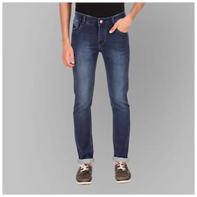 Luies Men Navy Blue Slim Fit Jeans