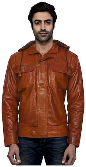 Luis Leather Men Leather Jacket - Brown